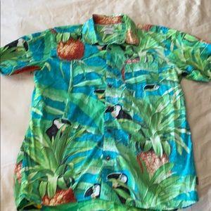 Hurley Hawaiian Button Down sz L